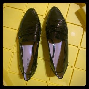 Michael Kors Black patent loafers